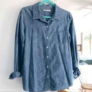 Oversize chambray top
